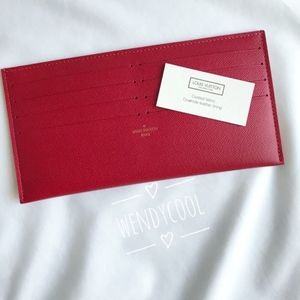 New Louis Vuitton Credit Card Cash Holder red